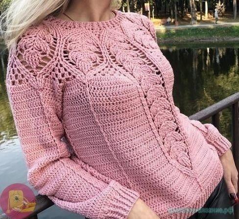 Красивый пуловер крючком