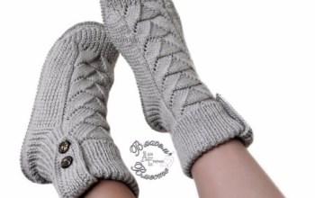 Вяжем носки спицами