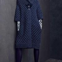 Вязаное модное пальто 2021.