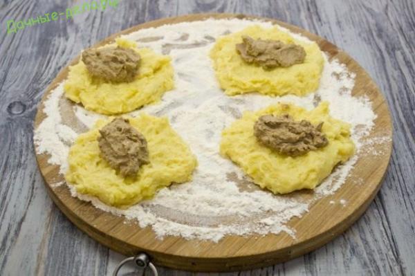 Картофельные зразы — котлеты из картошки с печенью цыплёнка