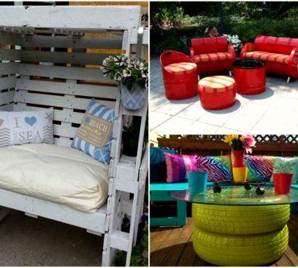Садовая мебель, которую можно сделать своими руками, не выходя за рамки скромного бюджета 4