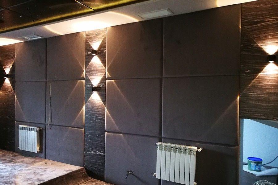 Мягкие панели на стене