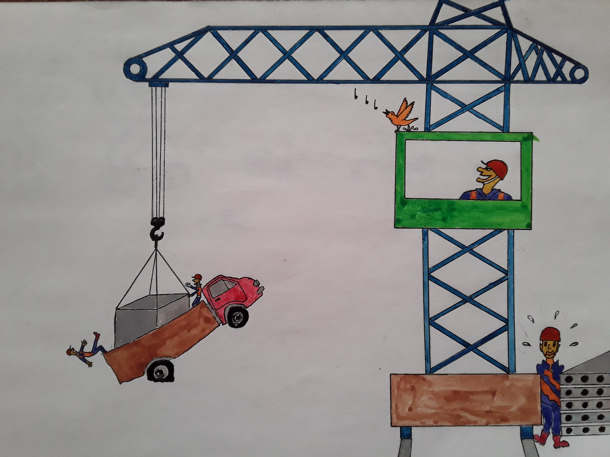 рисунки по охране труда 4