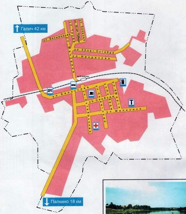 Карта поселка Антропово