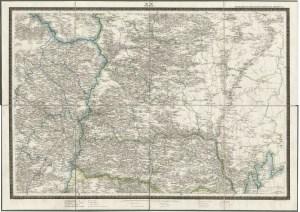 Карта Костромской губернии Ф.Ф.Шуберта