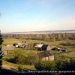 Деревня Быки. На дальнем плане Галичское озеро