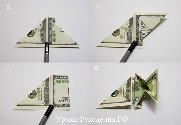 Double Heart Money Origami 1 Dollar Tutorial DIY Folded No glue ... | 414x600