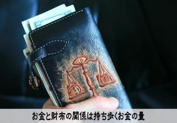 お金と財布の関係は持ち歩くお金の量