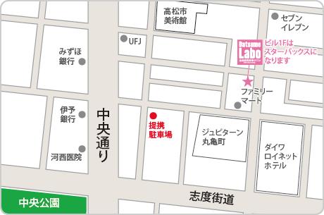 脱毛ラボ高松店アクセスマップ