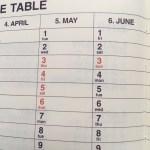 みなさん手帳の年間スケジュール欄(年間予定表)は活用してますか?私のおすすめ手帳のミニットマネージャーの書き方と使い方。