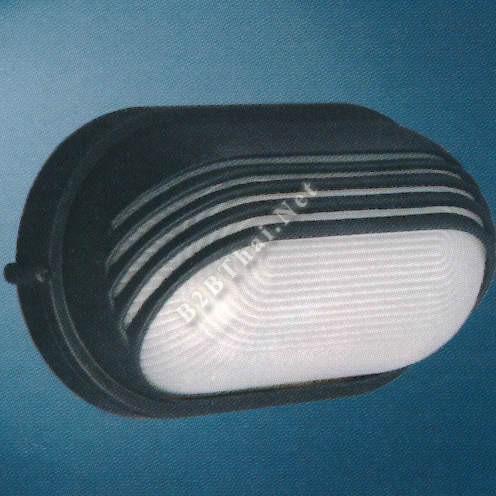 โคมไฟผนังนอกบ้าน วงรี สีดำ