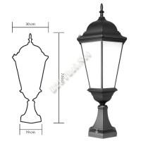 โคมไฟหัวเสาอลูมิเนียม โรมัน