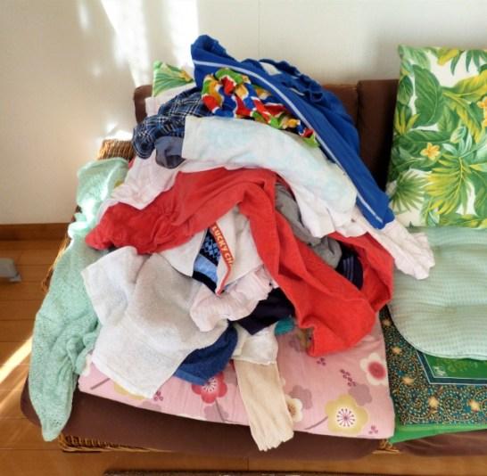 二人暮らし洗濯物をすぐに片づけてくれない