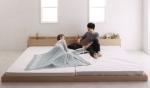 広いほど嬉しい、二人暮らしのベッド。2台連結できるカップルベッド集