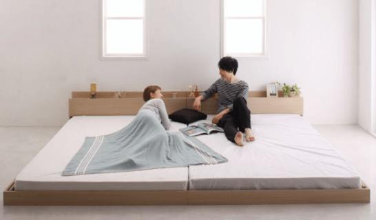 二人暮らし連結ベッド