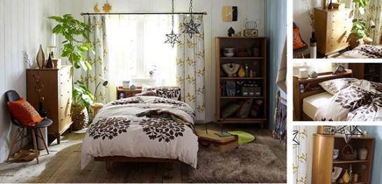 北欧スタイルのベッドルーム
