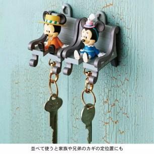 可愛的鑰匙座牢牢的固定♡迪士尼「附鑰匙圈的鑰匙架 歡迎回家鑰匙鏈」