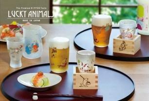 以六種浮世繪動物圖案來討個吉利!酒枡玻璃杯「LUCKY ANIMALS」