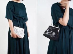 京東都 KYO-TO-TO♪黑白雙色「鳥獸戲畫口金小提包」與新款式「鳥獸戲畫徽章」