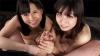 Mai Araki and Miu Shirasaki's sexy handjob