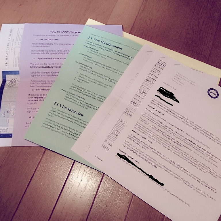 BYU ELC 語学留学 入学 手続き 書類