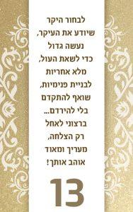 בר מצווה,כרטיס ברכה מעוצב לבר מצווה