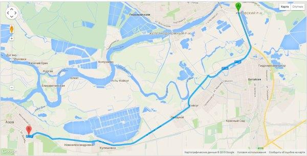 как проехать из Ростова в Азов
