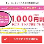 ニッセン ラッキーナンバー1000円
