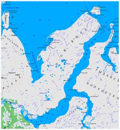Карта Ямало-Ненецкого автономного округа