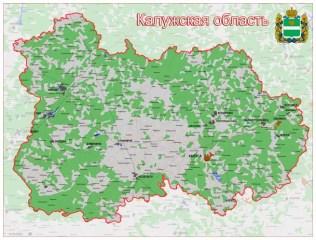 географическая карта Калужской области