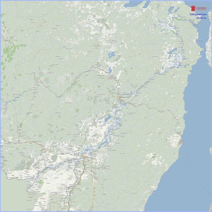купить карту хабаровской области