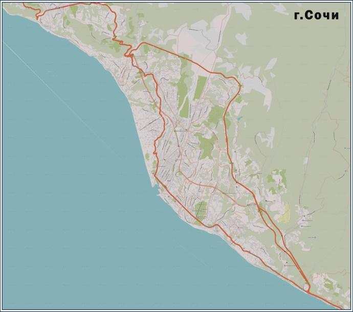 Купить карту города Сочи