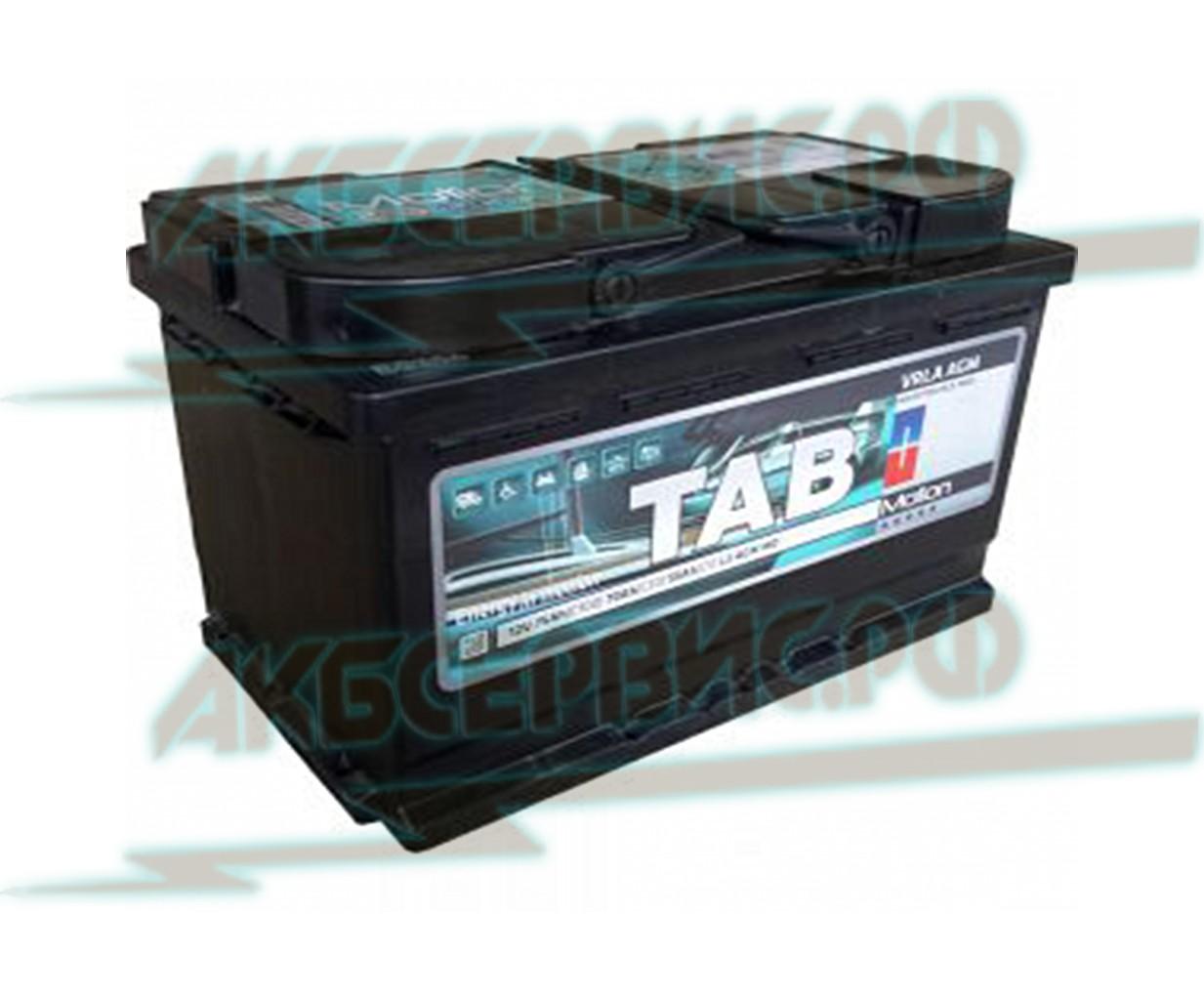 Акбсервис.РФ | Аккумулятор TAB Motion AGM 12В