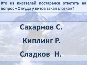 "Литературная викторина ""Чудо-юдо рыба-кит"""