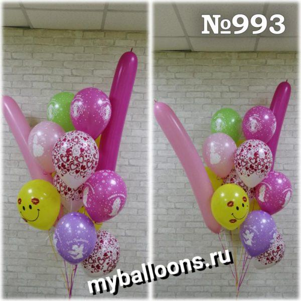 Облако из шаров с длинными шарами