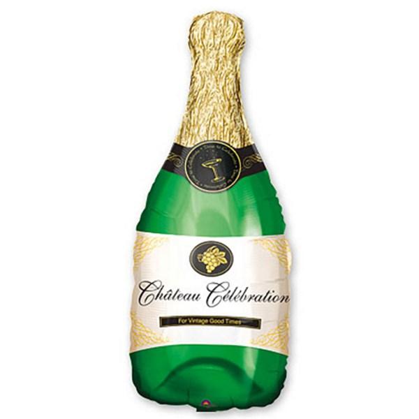 Бутылка шампанского с гелием