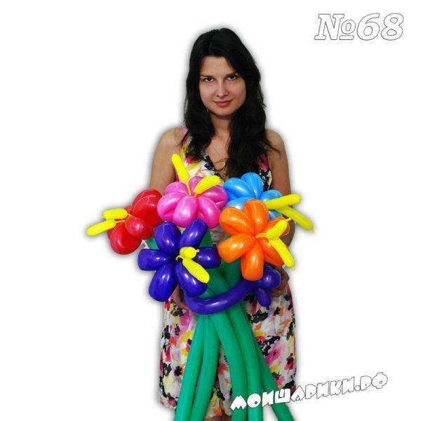 Ромашка из воздушных шаров с большими тычинками