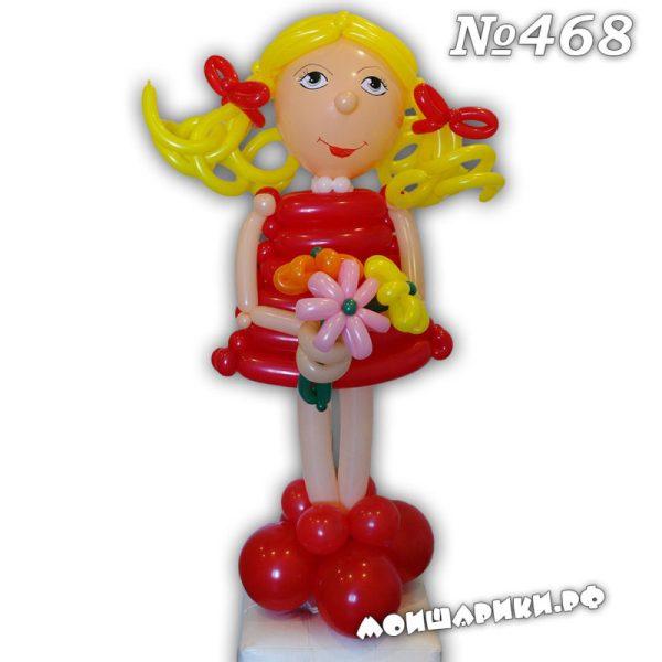 Девочка из шаров в красном платье