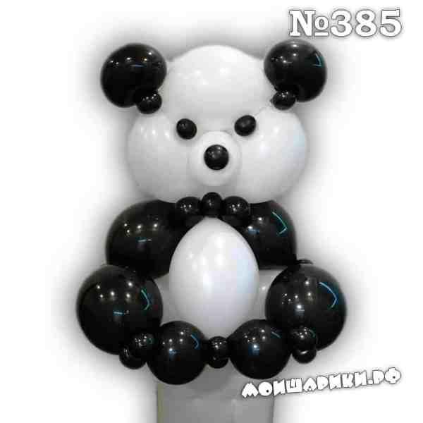Большая панда из воздушных шаров