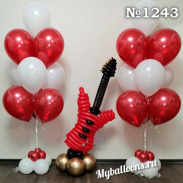 Гитара из шаров и фонтаны
