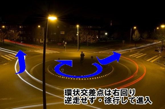 環状交差点の入り方