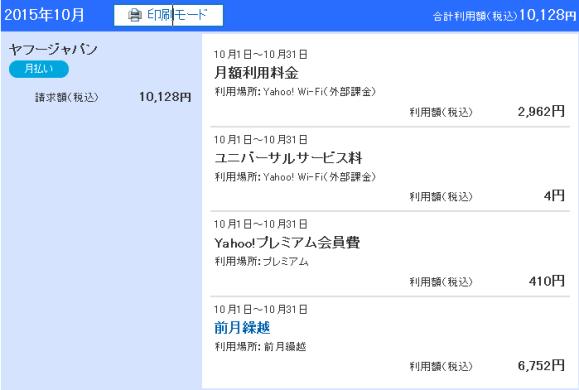 Yahoo!wallet-3回目の請求