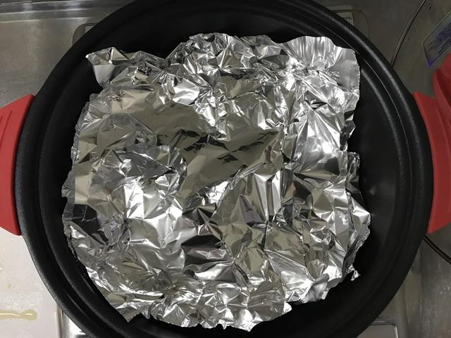 落し蓋をしたバターナッツの煮つけ