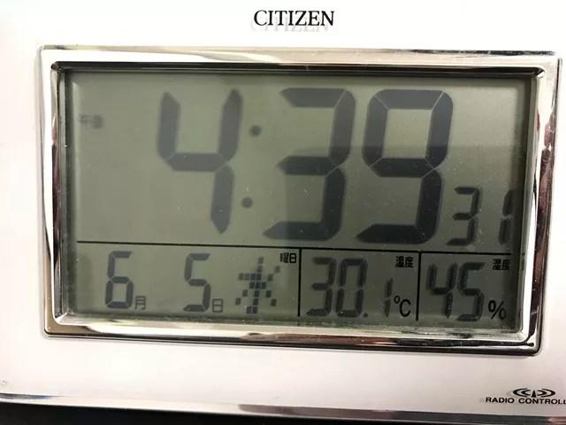 室温30℃オーバー