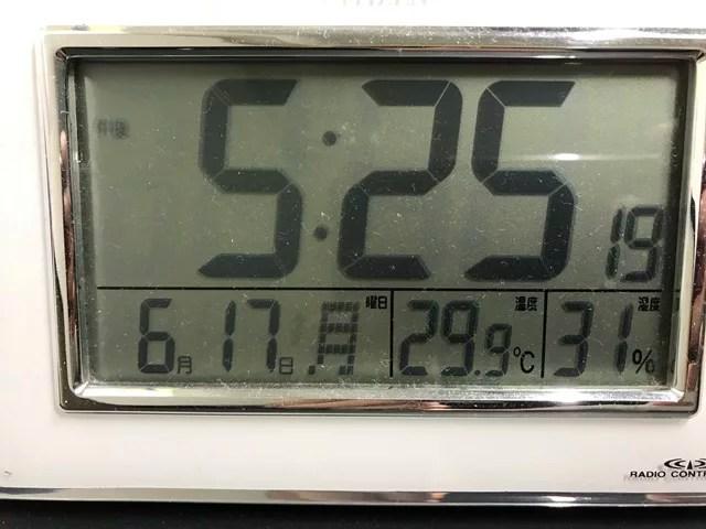 29.9度の室温
