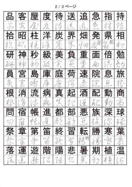 もっと草書を覚える!小学校3年で習う漢字②