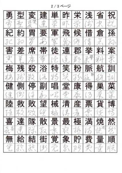 けっこう草書を覚える!小学校4年で習う漢字②