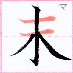 カタカナ【マ】の由来になった漢字は【末】