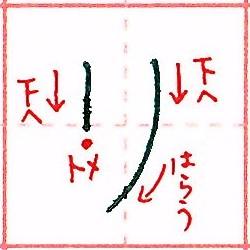 カタカナ【リ】の書き方