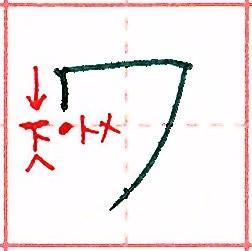 カタカナ【ワ】の書き方